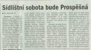 deník chomutovska, pátek 16.7. 2004, str.18 (Vlastní)